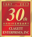 Clagett Enterprises, Inc. 30th Anniversary Logo