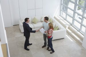 Potential Renters with Real Estate Agent